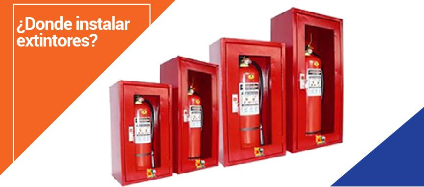 Como y donde instalar un extintor de incendios extintores bogot - Extintor para casa ...